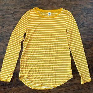 Gap yellow striped long sleeve Tshirt
